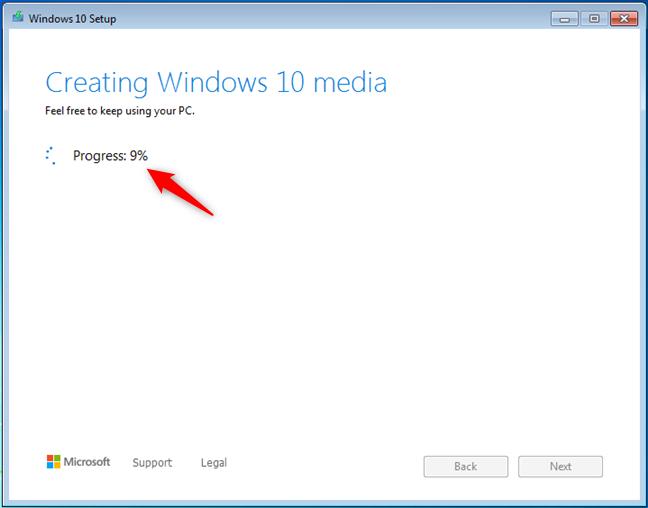 Creación de medios de Windows 10