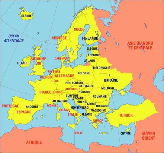 Europe Centrale Géographie