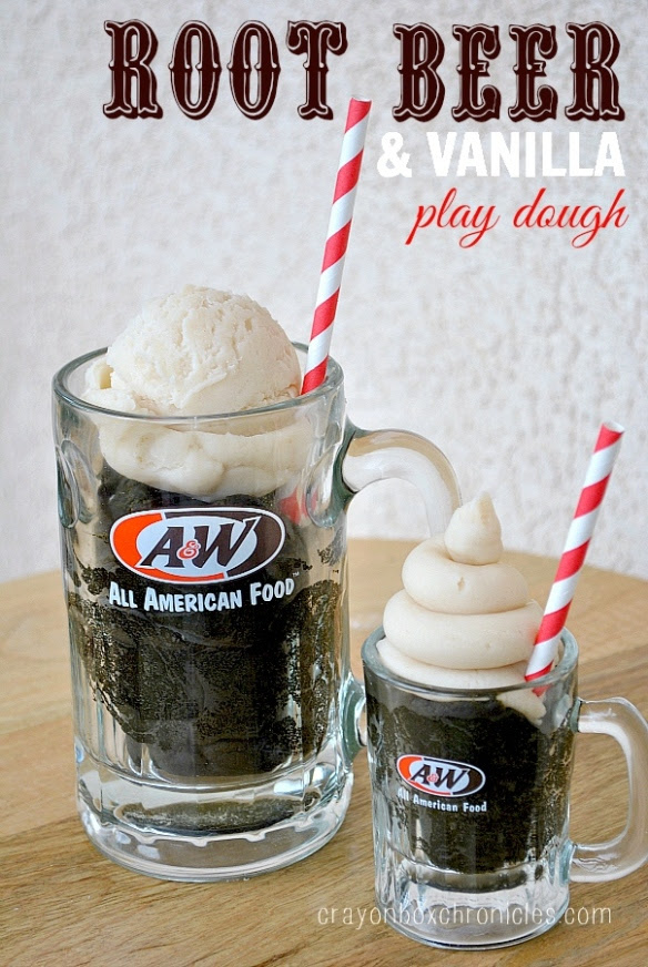 Root Beer Vanilla Float Scented Play Dough