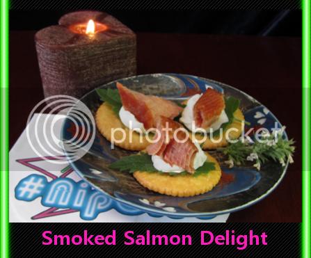 salmon crackers cream cheese