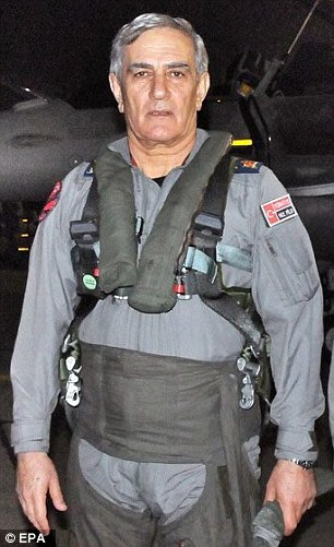 Ozturk, pictured in his military uniform,  was due to be retired this August at a meeting of the YAS, which convenes twice a year