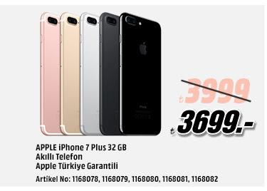 iPhone 7 Plus 32GB Akıllı Telefon Apple Türkiye Garantili 3699TL