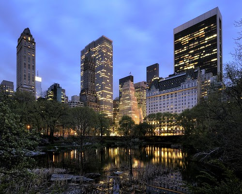 central park at dusk, nyc por andrew c mace