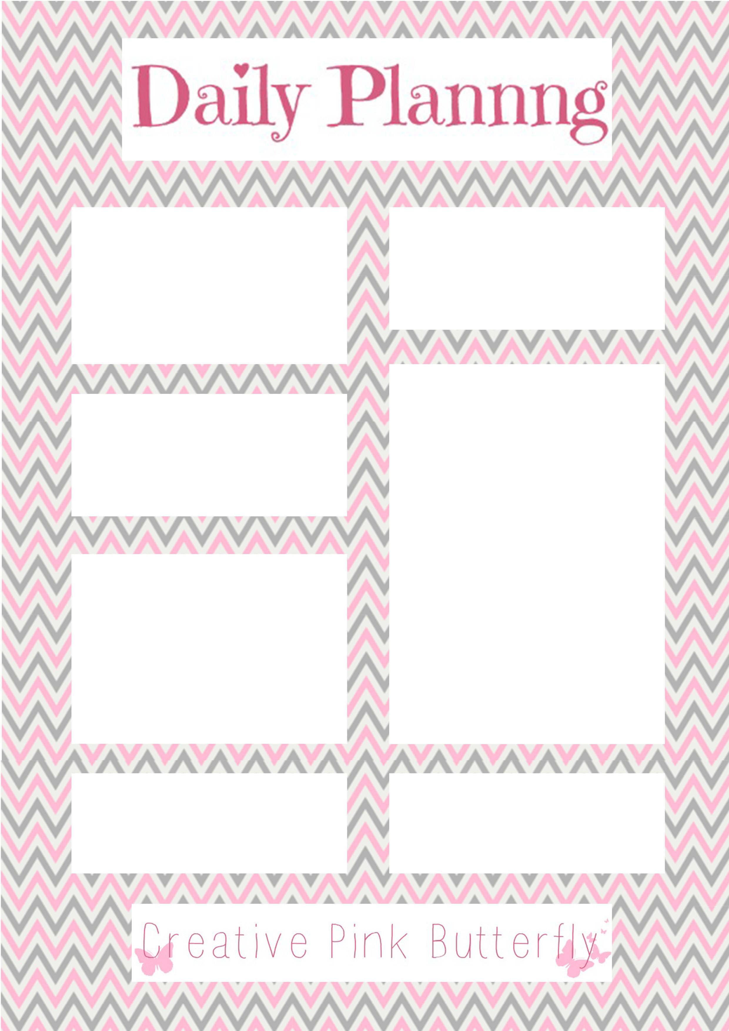 Daily Planner | Creative Pink Butterfly