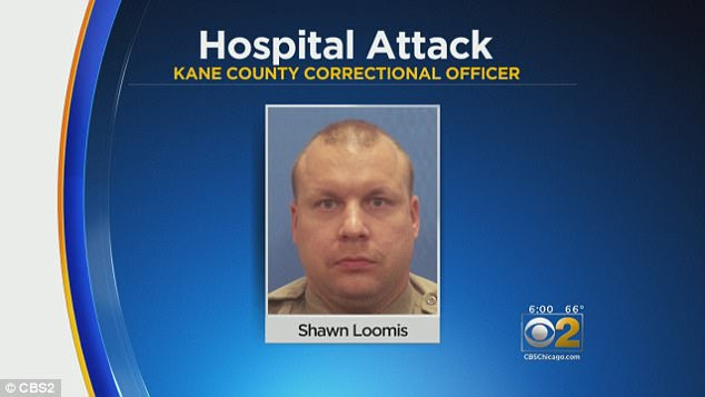 Salters' guard, Shawn Loomis (pictured) allegedly ran and hid when his gun was stolen and did nothing to protect the nurses