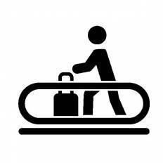 動く歩道シルエット イラストの無料ダウンロードサイトシルエットac