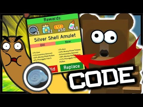 New Code Silver Stump Snail Amulet Roblox Bee Swarm - roblox codes bear mask