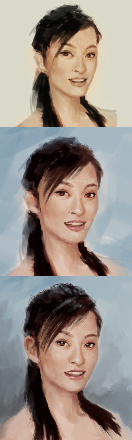 how to paint asian portrait
