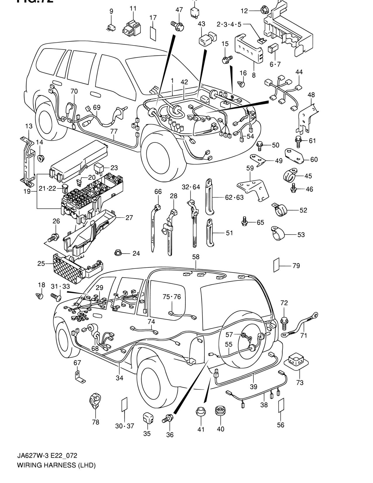 Suzuki Grand Vitara Wiring Harnes