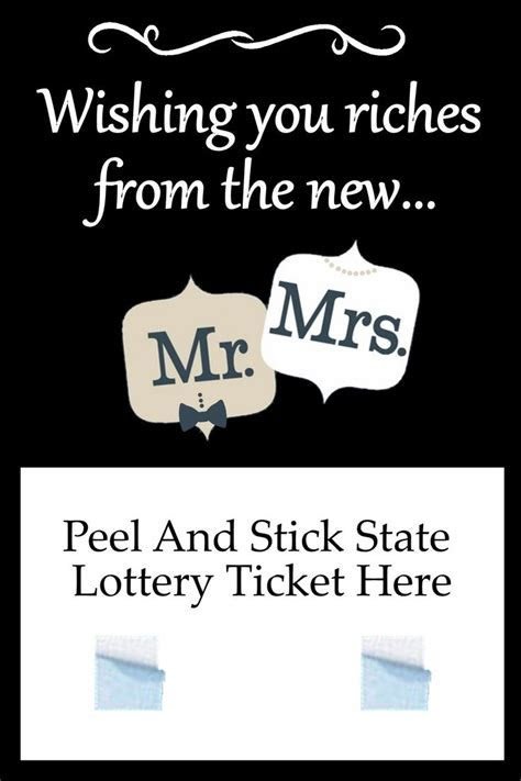 Mr. and Mrs.Wedding Lottery Ticket Holder Favor   Wedding