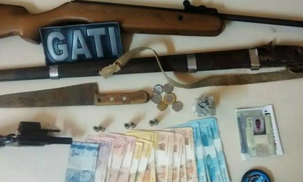 Material estava em uma casa na zona rural do município / Foto: Divulgação/Polícia Militar.