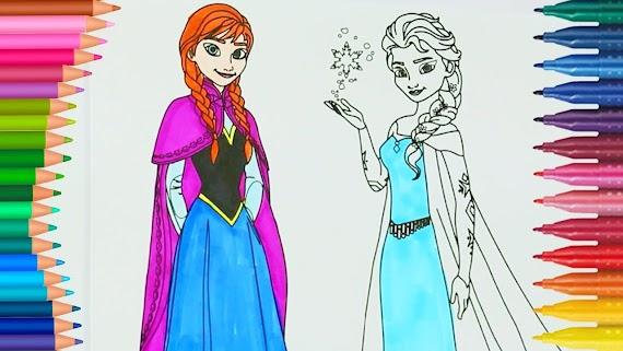 En Iyi Elsa Anna Boyama Kitabý Hedef üst Ev Boyama Sayfası