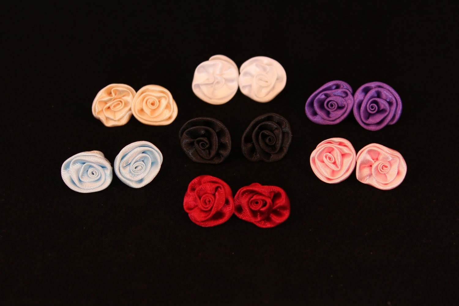 Satin Flower Earrings