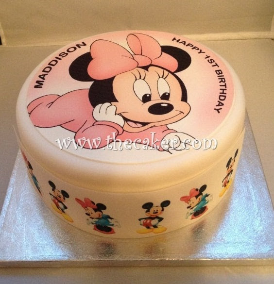 Minnie Mouse Edible Icing Cake Topper 01 The Caker Online