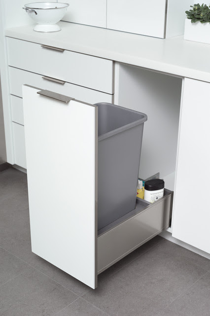 Stainless Steel Roll-Out Trash Bin Cabinet from Dura ...
