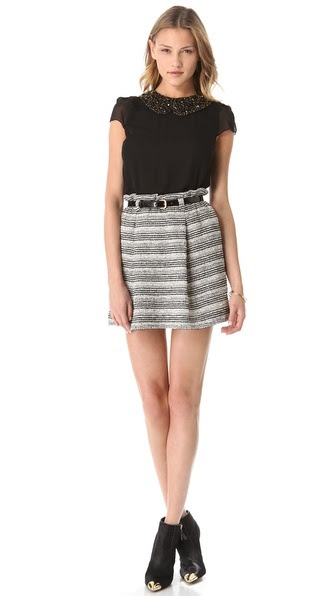 Alice + Olivia Paper Bag Stripe saia $ 192,50