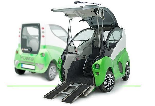 Elbee, um veículo para cadeirantes.