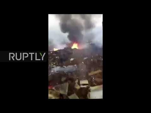 Detik-detik Pesawat Militer China Jatuh di Guizhou