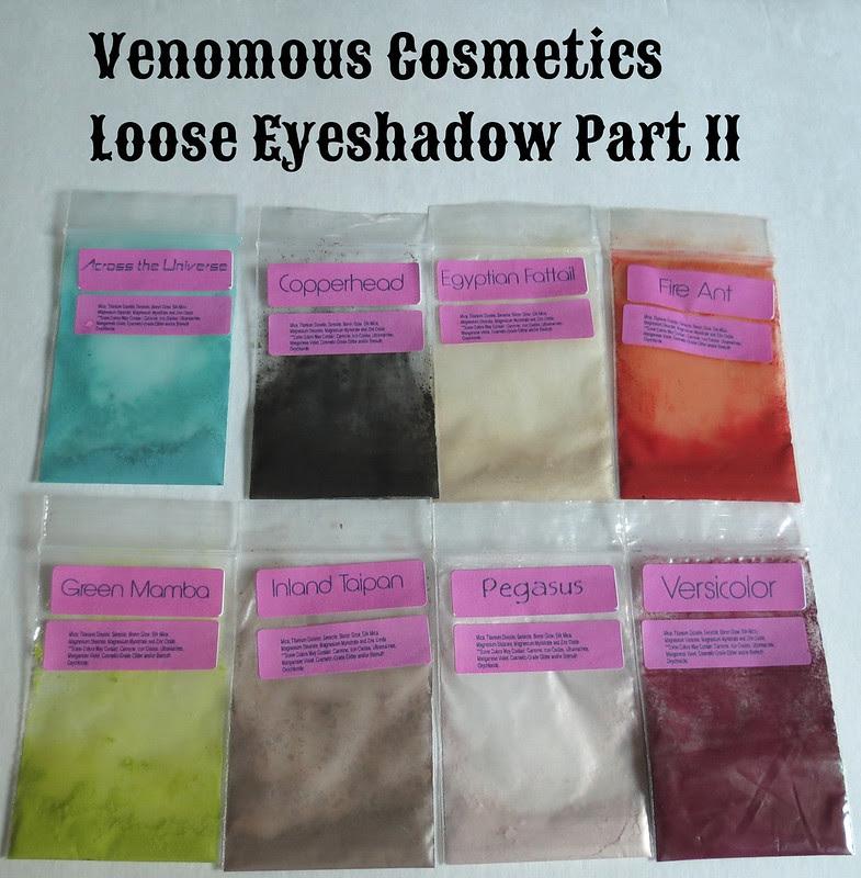 Venomous Cosmetics Loose Eyeshadows
