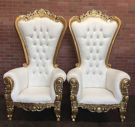 Absolom Roche Two Chair Set (10% Discount)   Gold/White