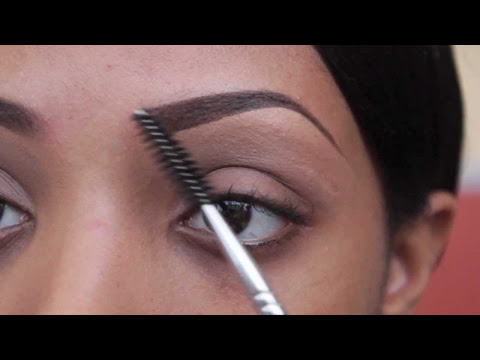 beauty  personal care how to use eyebrow pencil with brush