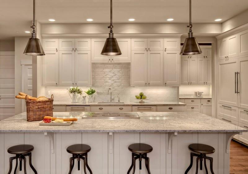 Ideas For Granite Kitchen Countertops White Cabinets wallpaper