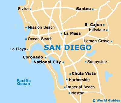 San Diego Location On The US Map Maps Us Map San Diego San Diego