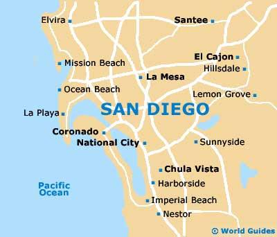 Maps Us Map San Diego - San diego us map