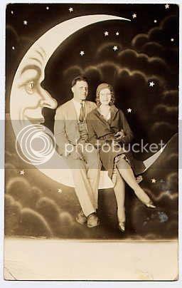 vintage paper moon couple
