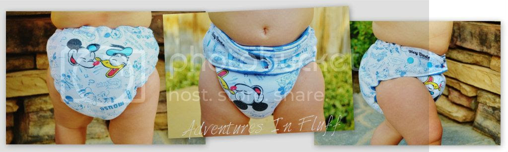 Hey Dude Diapers One-Size Hybrid Fitted Cloth Diaper - Up close