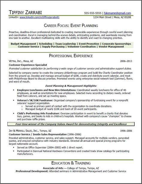 event planner resume   Event Planner Resume: Career
