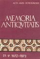 Memoria Antiqvitatis IV-V