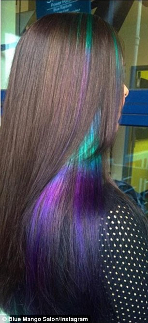 New hair trend sees rainbow stripes used to give locks an \u002639;oil slick\u002639; look  Daily Mail Online