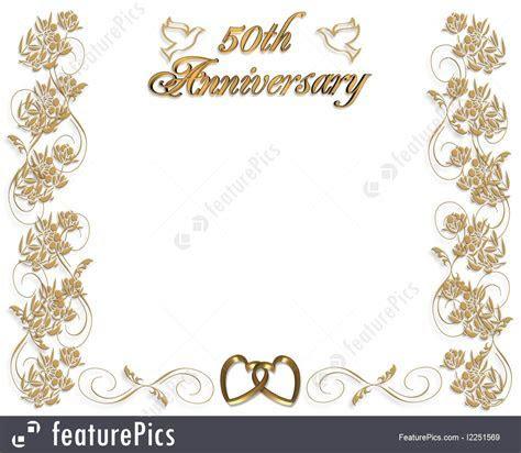 Templates: Wedding Anniversary Invitation 50 Years   Stock