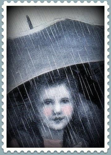 Children, april showers