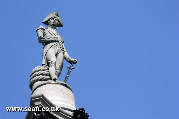 the top of Nelson's Column