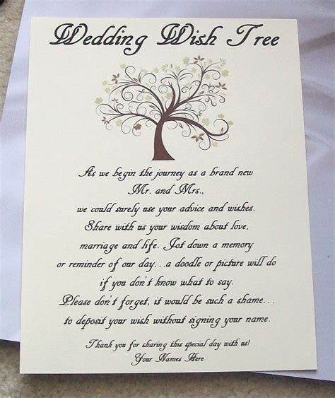Wishing Tree Tags Instructions Sign   Fall Tree