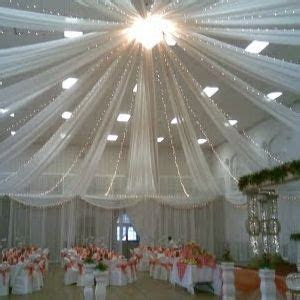 Tulle Ceiling on Pinterest   Wedding Ceiling Decorations