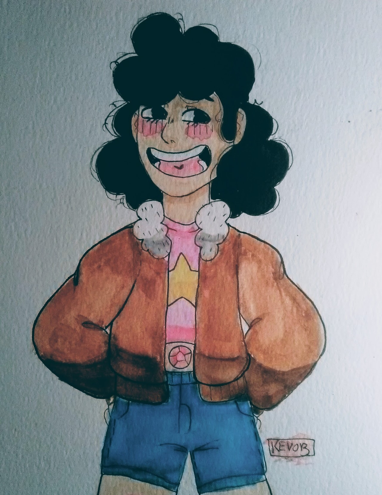 Shorter hair Stevonnie
