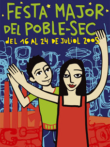 "Cartel ""Festa Major de Poble Sec 2004"""