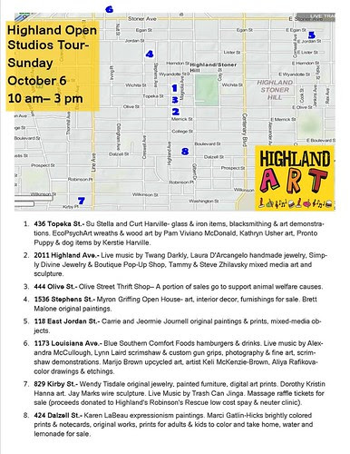 Highland Art Tour map by trudeau