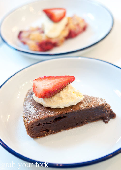 swedish kladdkaka chocolate cake dessert at fika swedish kitchen cafe manly