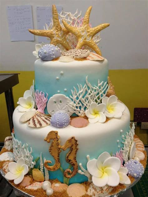 Island wedding cake, underwater theme galore, Sugarnomics