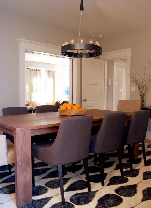 Barn Chandelier Casts Rustic Light onto Dining Room Table  Blog  BarnLightElectric.com