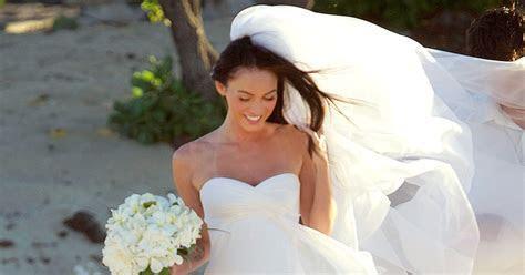 Megan Fox   15 Best Celebrity Wedding Dresses as Worn by