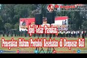Apel Gelar Pasukan Bersama TNI-Polri dan Pemerintah Bali terkait Penegakan Hukum Protokol Kesehatan