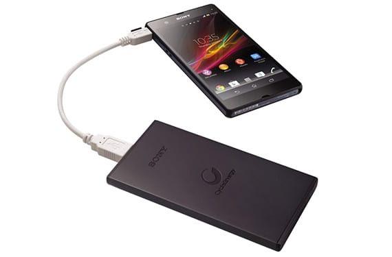 Baterias Portatiles 2 Baterías portátiles de Sony para carga de dispositivos