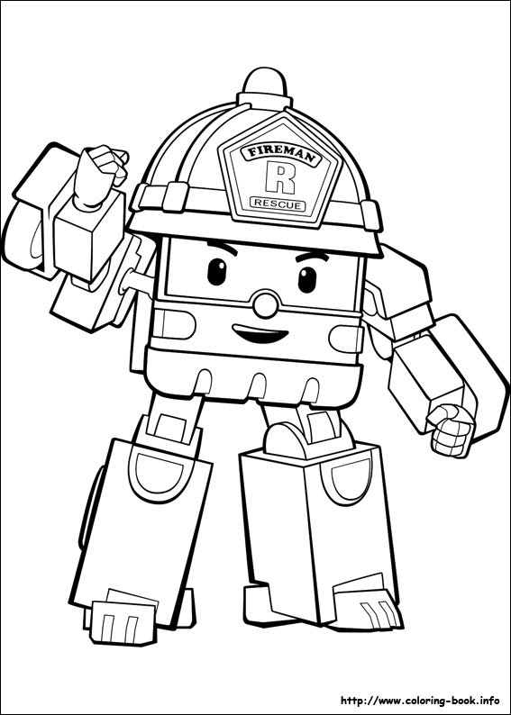 Robocar Poli Coloring Pages On Coloring Book Info