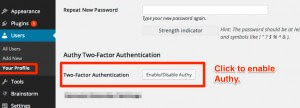 Enable Authy Two-Factor Authentication in WordPress