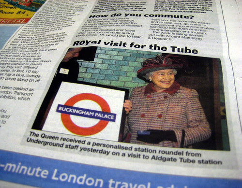 Queen at Tube in Metro